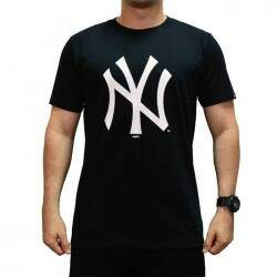 Camiseta New Era Essentials New York Yankees - Preto