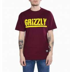 Camiseta Grizzly Stamped - Burgundy