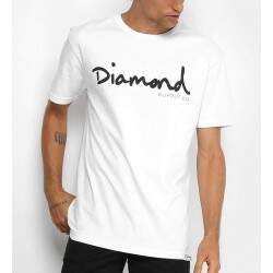 Camiseta Diamond Supply Co Og Script - Branca