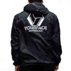 Jaqueta Your Face Windbreaker Corta Vento - Preto
