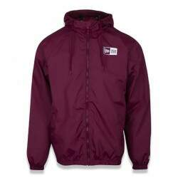 Jaqueta New Era Windbreaker Branded Logo Box - Bordo