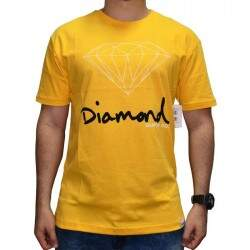 Camiseta Diamond Supply Co Og Sign - Gold
