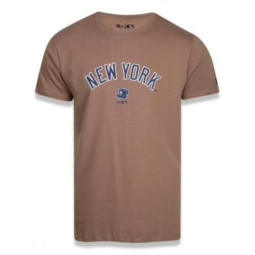 Camiseta New Era Mbv Continues Cap New York Yankees - Khaki
