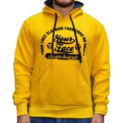 Moletom Your Face Logo Circle - Amarelo