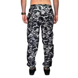 Calça Your Face Jogger Tactel Camo - Cinza