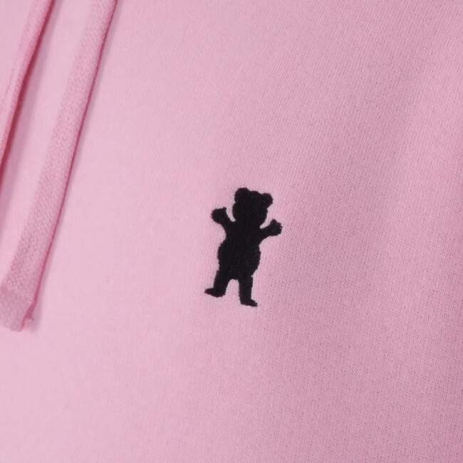 Moletom Grizzly Og Bear Pullover Embroidery Hoodie - Pink