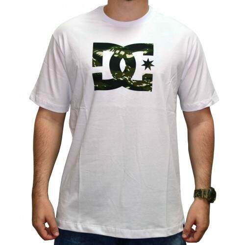 Camiseta Dc Star Camo - White
