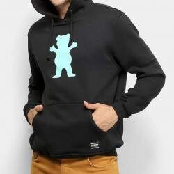 Moletom Grizzly Og Bear Pullover Hoodie - Black