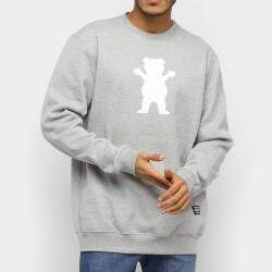 Moletom Grizzly Og Bear Pullover - Grey