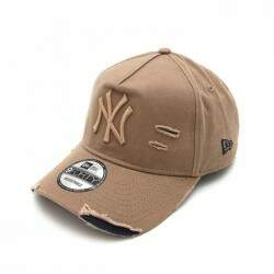 Boné New Era 940 A-Frame Destroyed New York Yankees Khaki - Strapback