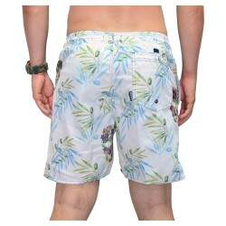 Short Reef Flowers Skull - Branco