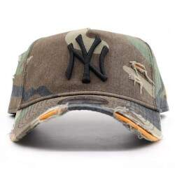 Boné New Era 940 A-Frame Destroyed Yankees Camuflado - Strapback