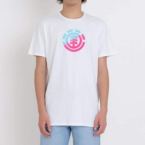 Camiseta Element Quadrant Teal Pink - Branco