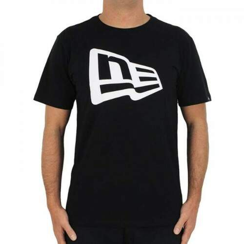 Camiseta New Era Essentials Flag - Preto