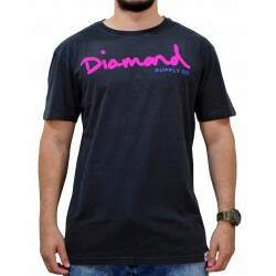 Camiseta Diamond Supply Co Og Script Overd Puff - Black