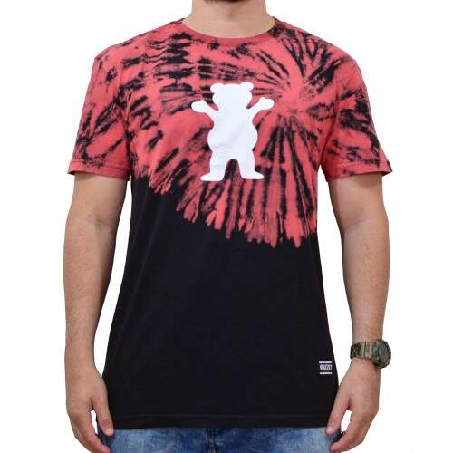 Camiseta Grizzly Og Bear Tie Dye Fruit Punch - Preto