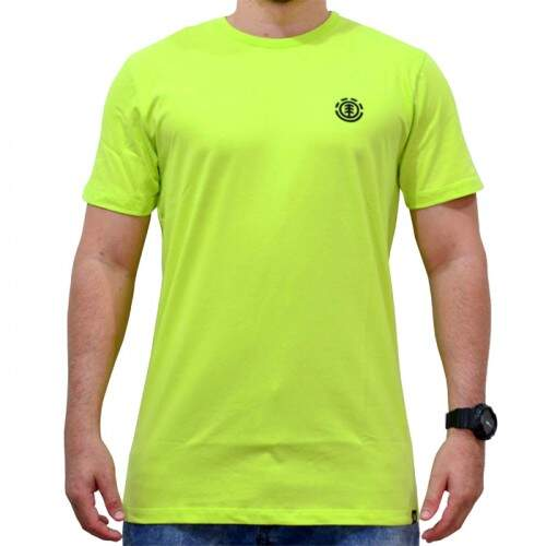 Camiseta Element Logo Basic - Verde Neon