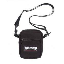 Shoulder Bag Thrasher Logo Patch - Preto