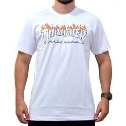 Camiseta Thrasher Schorched - Branco