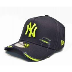 Bone New Era Mlb 9forty A-Frame Destroyed Yankees Marinho