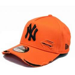 Bone New Era Mlb 9forty A-Frame Destroyed Yankees Laranja