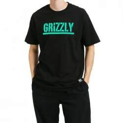 Camiseta Grizzly Stamped - Black