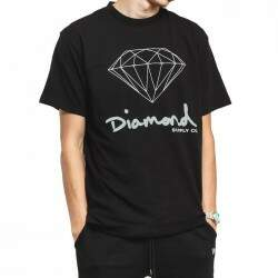 Camiseta Diamond Supply Co Og Sign - Preto