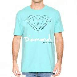Camiseta Diamond Supply Co Og Sign - Blue