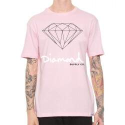 Camiseta Diamond Supply Co Og Sign - Rosa
