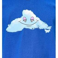 Camiseta Thank You Head In The Cloud - Royal