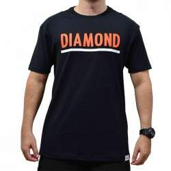 Camiseta Diamond Supply Co Team Tee - Preto
