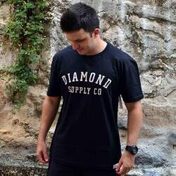 Camiseta Diamond Supply Co Stencil - Preto