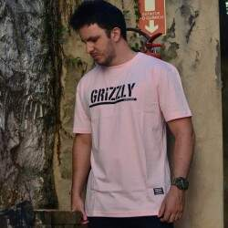 Camiseta Grizzly Stamped - Rosa