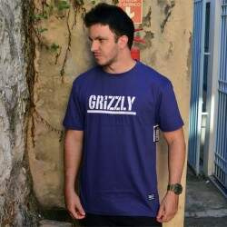 Camiseta Grizzly Stamped - Roxo