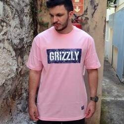Camiseta Grizzly Paisley Stamped Rosa
