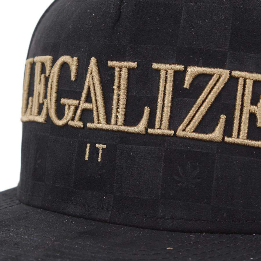 Boné Cayler And Sons - Legalize It - Black Suede/Gold - Snapback