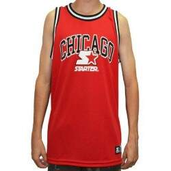 Camiseta Regata - Starter - Chicago - Vermelha