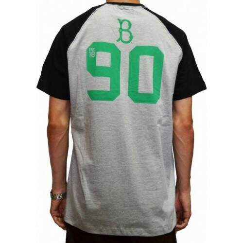 Camiseta New Era Raglan Brooklyn - Preto/Mescla