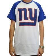 Camiseta New Era Raglan Basic New York Giants NFL - Branco/Azul