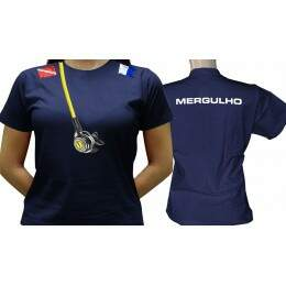 Camiseta Mergulho - Baby-look