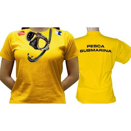 Camiseta Pesca Submarina - Baby-look
