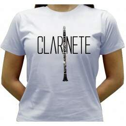 Camiseta Clarinete - Baby-look