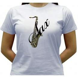 Camiseta Sax Tenor - Baby-look