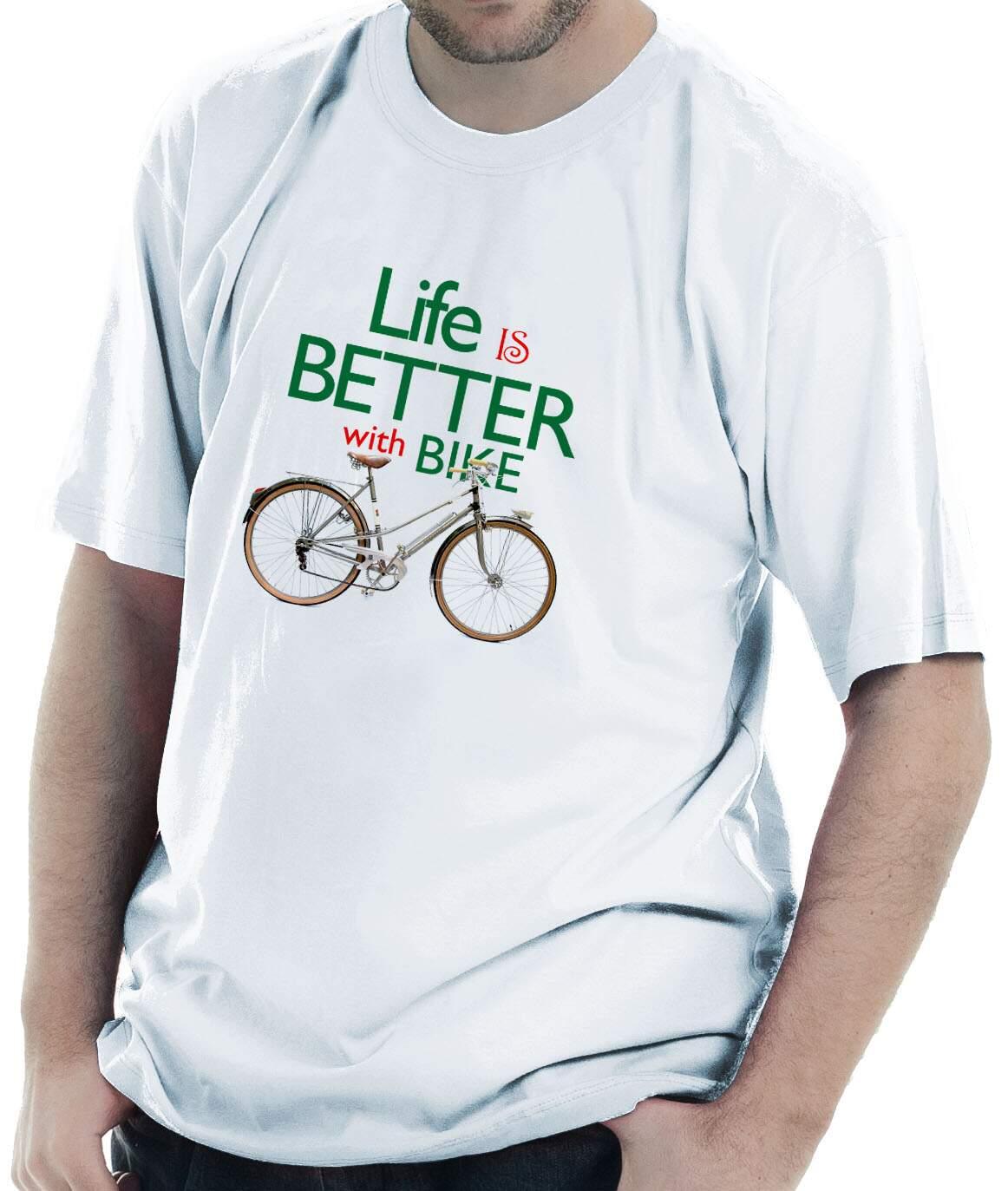 Camiseta Life is better with bike