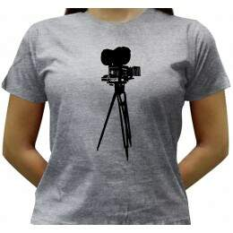 Camiseta Cinema - Baby-look