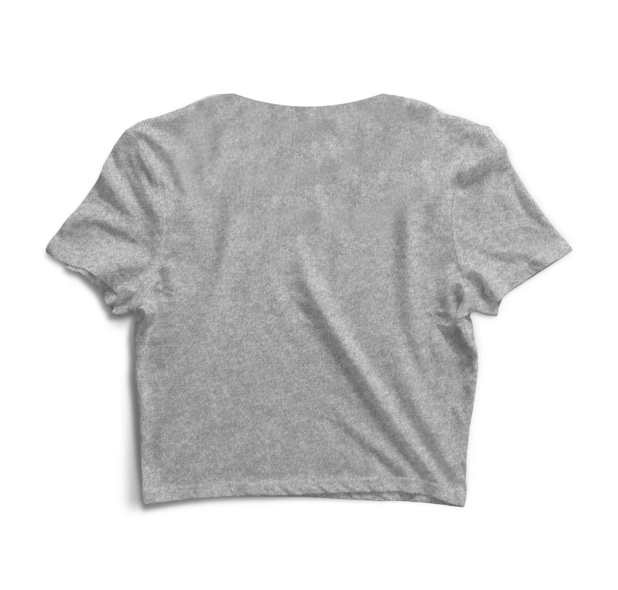 Blusa Cropped Morena Deluxe Fuck Off Cinza