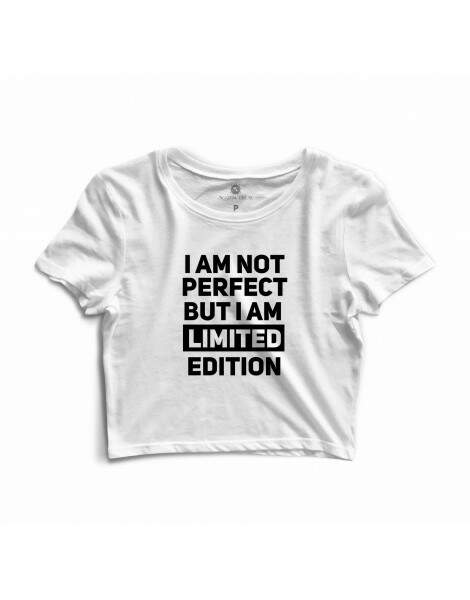 Blusa Cropped Morena Deluxe I Am Not Perfect Branco