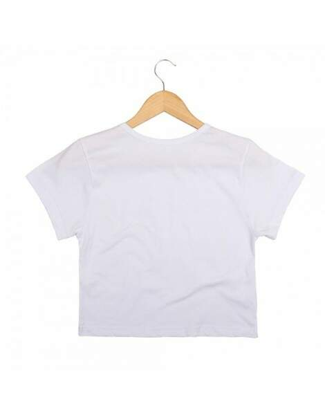 Blusa Cropped Morena Deluxe Open Mind Branco