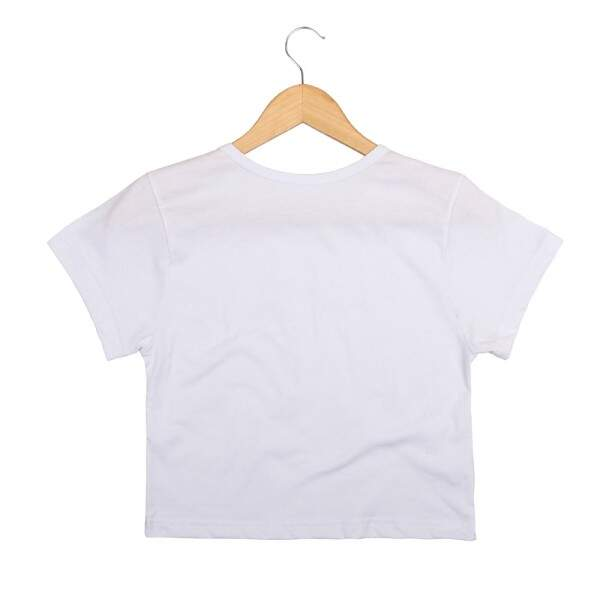 Blusa Cropped Morena Deluxe Space Invaded Branco