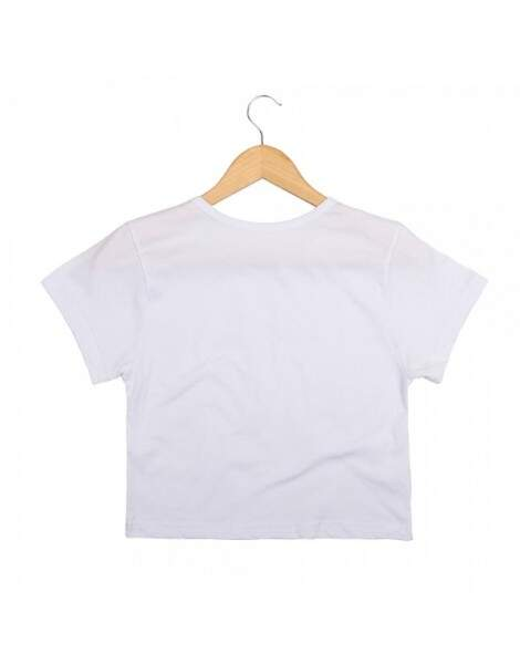 Blusa Cropped Morena Deluxe Think Positive Branco